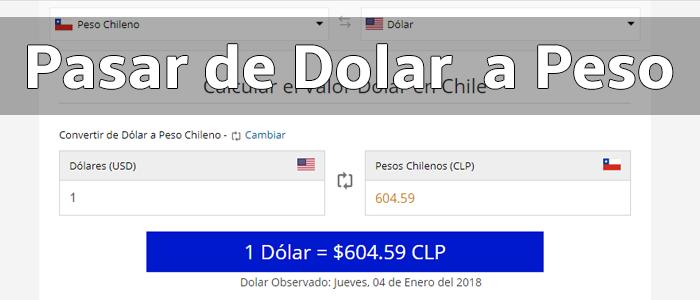 Dolar a Peso